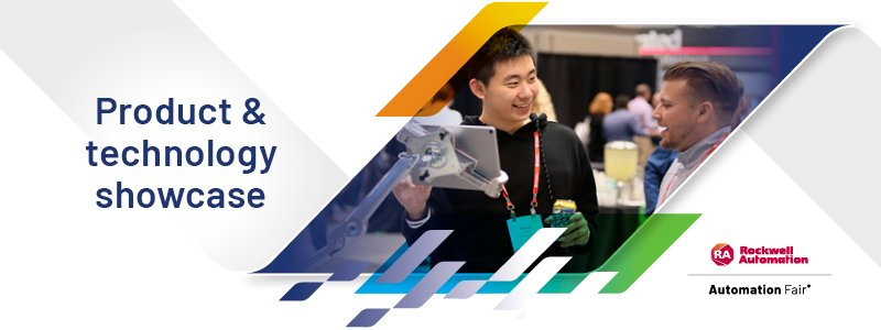 Rockwell Automation Product & Technology Showcase exhibit at Automation Fair 2021