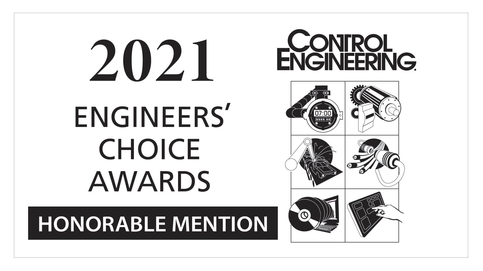 Logotipo de la Mención de honor del Control Engineering Engineers' Choice Award 2021