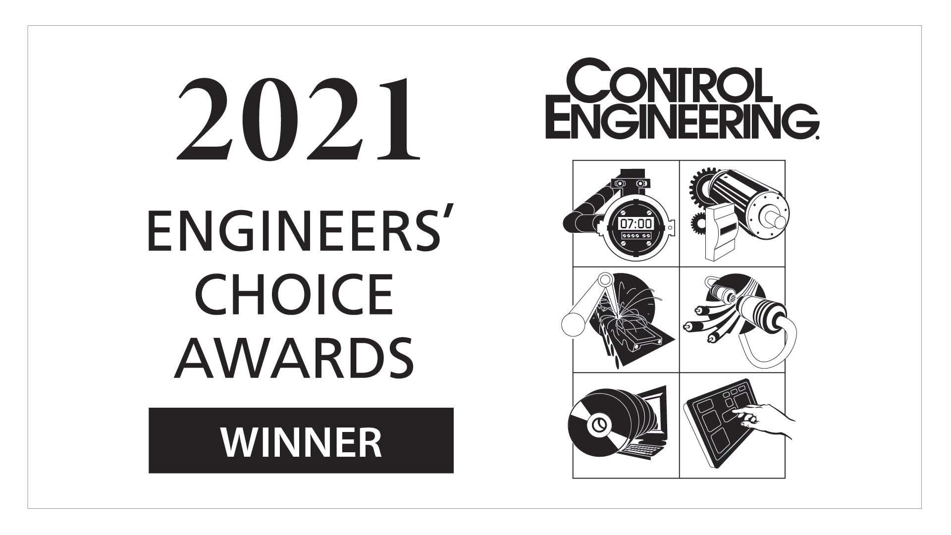 Control Engineering誌の「2021 Engineers Choice」賞の受賞者ロゴ