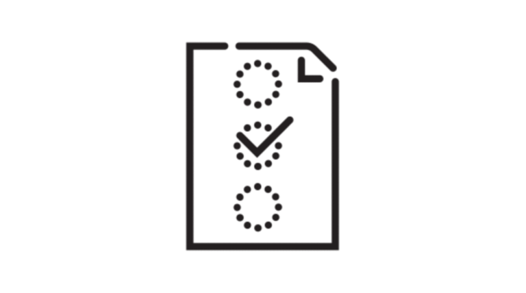 icon of document checklist