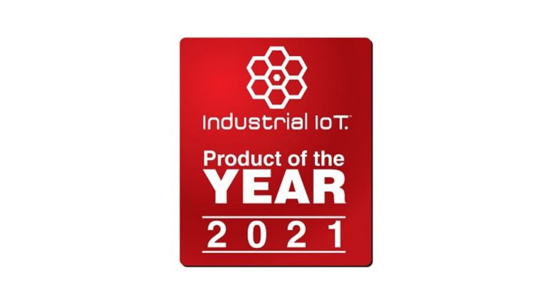 Industrial IoT Product of the Year 2021 award logo