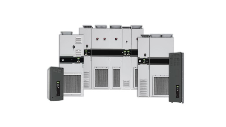 Line-up of PowerFlex 755T Variable Speed Drives