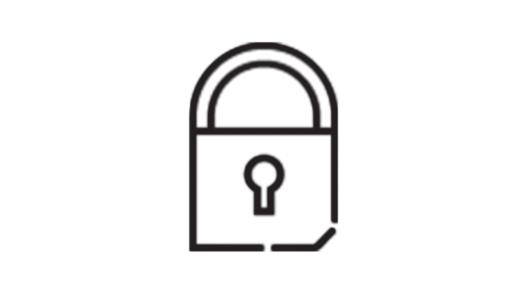 icon of security lock