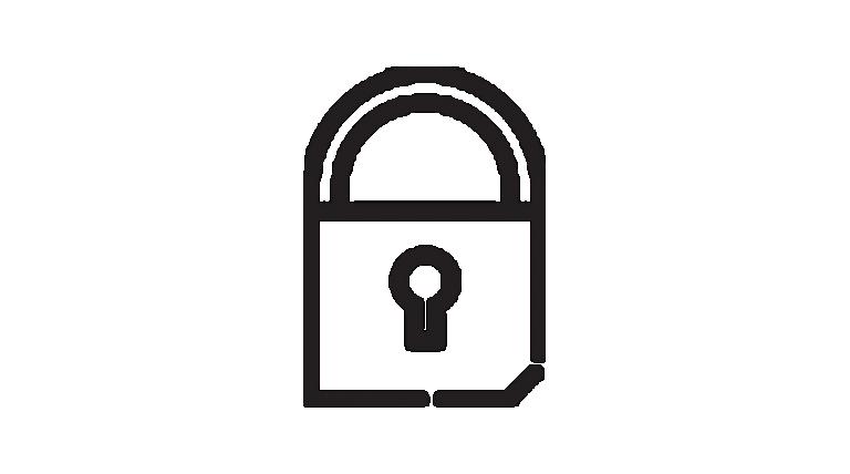 Symbol eines Sicherheitsschlosses