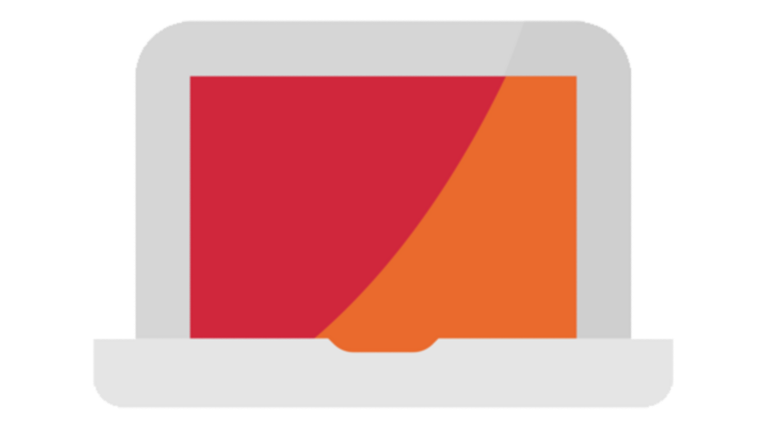 abstract laptop icon