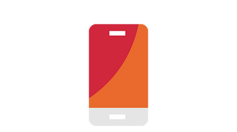 abstract mobile phone icon