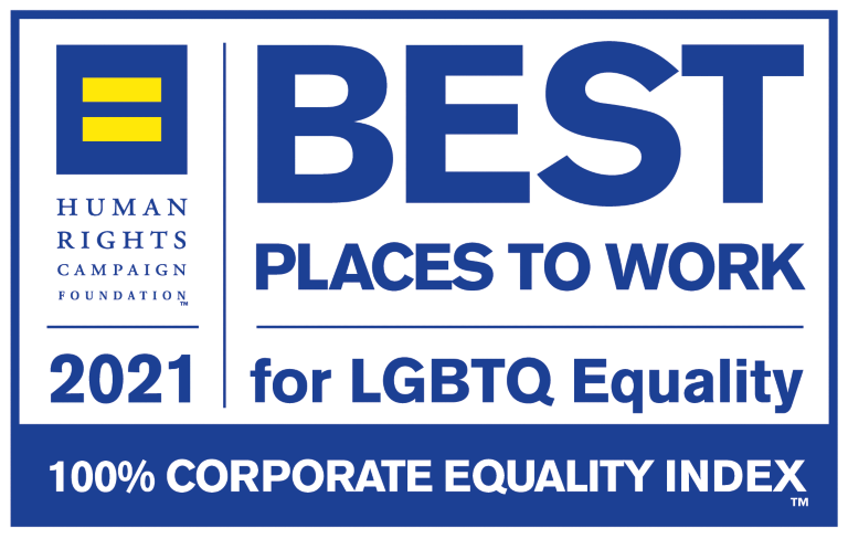 2021 Corporate Equality Index Best Places to Work for LGBTQ Equality Award Logo
