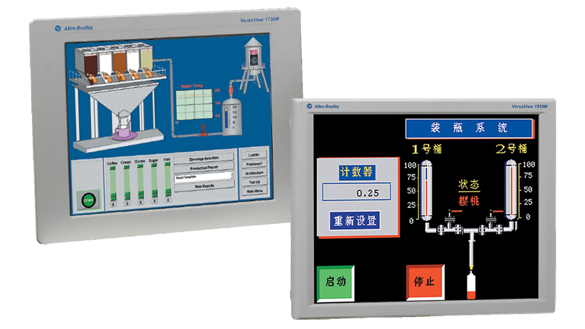 two 6176M standard monitors