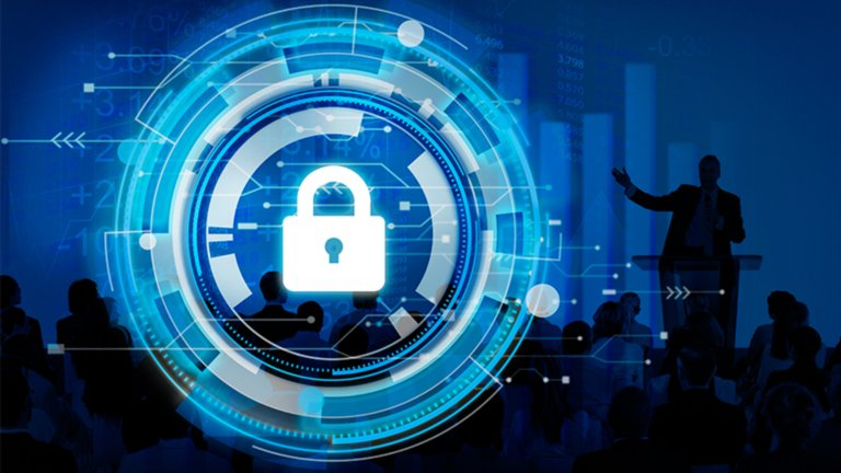Cybersecurity presentation to industry peers about staying ahead of enterprise threats