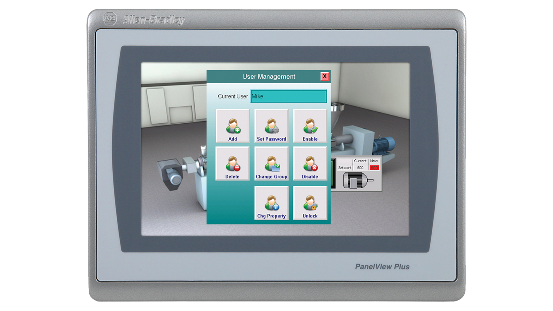 PanelViewPlus7-6in monitor