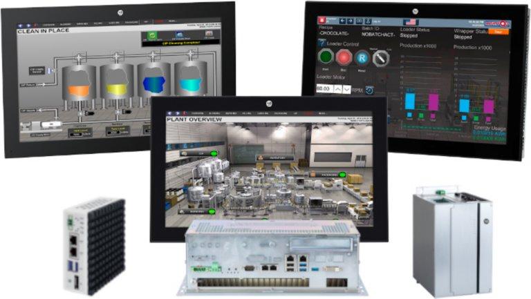 1 equipo industrial, 2 clientes ligeros y 3 monitores VersaView