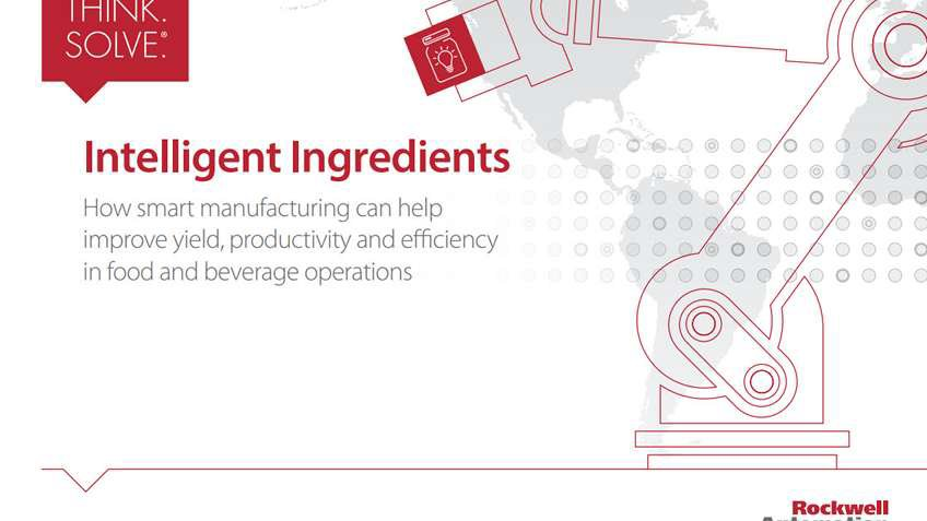 eBook: Intelligent Ingredients. How smart manufacturing can help improve yield, productivity and efficiency in food and beverage operations (PDF).