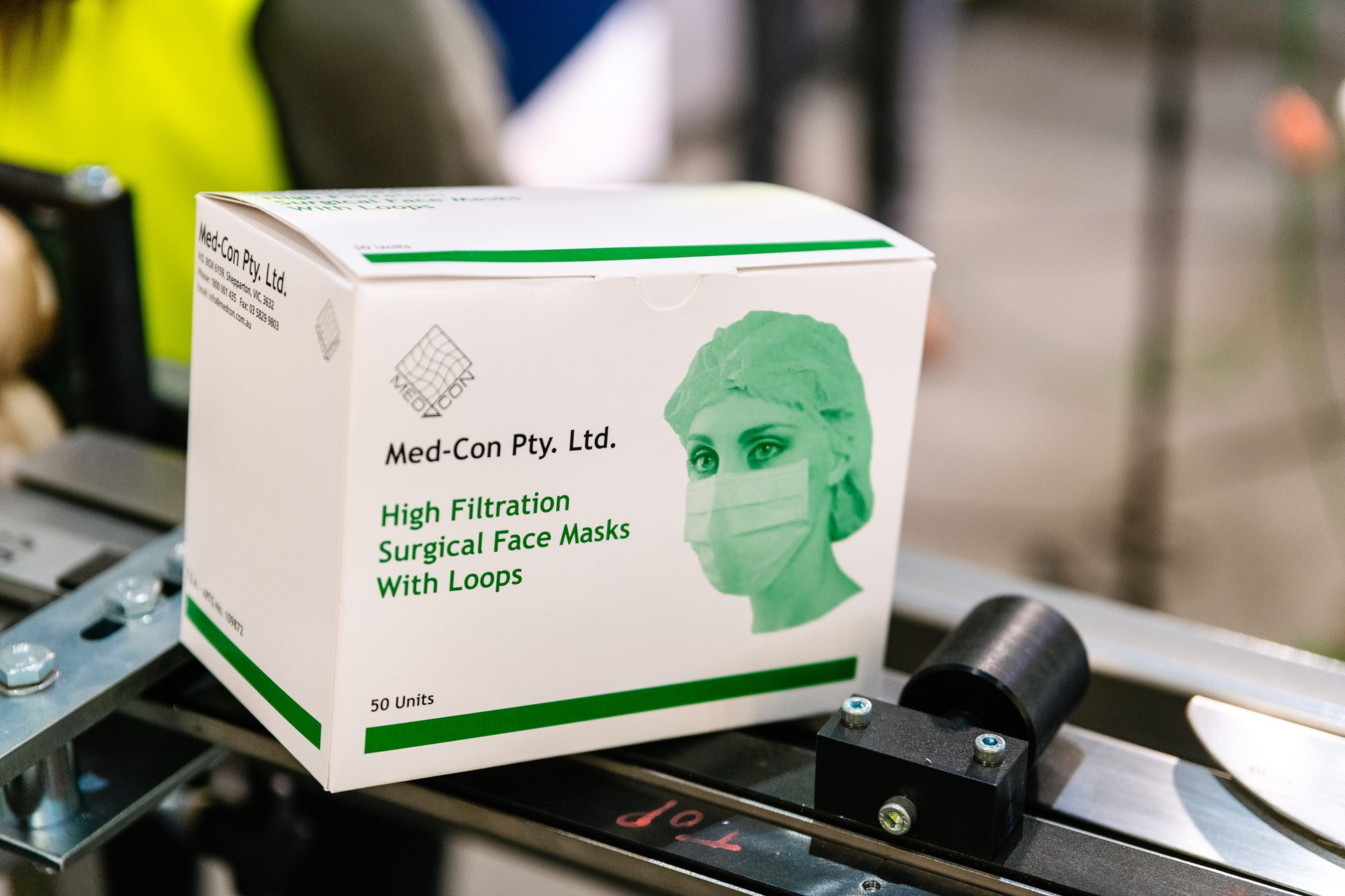 Med-Con will increase its production capacity to 160 million masks per year.
