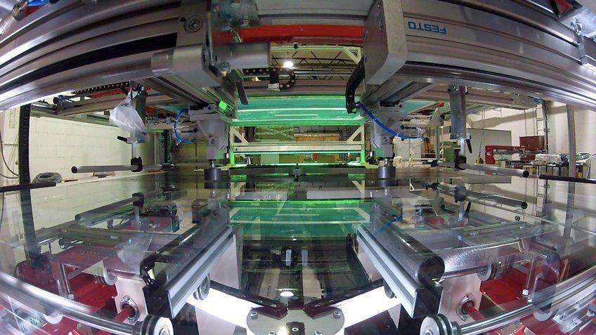 Cugher Glass 丝网印刷机