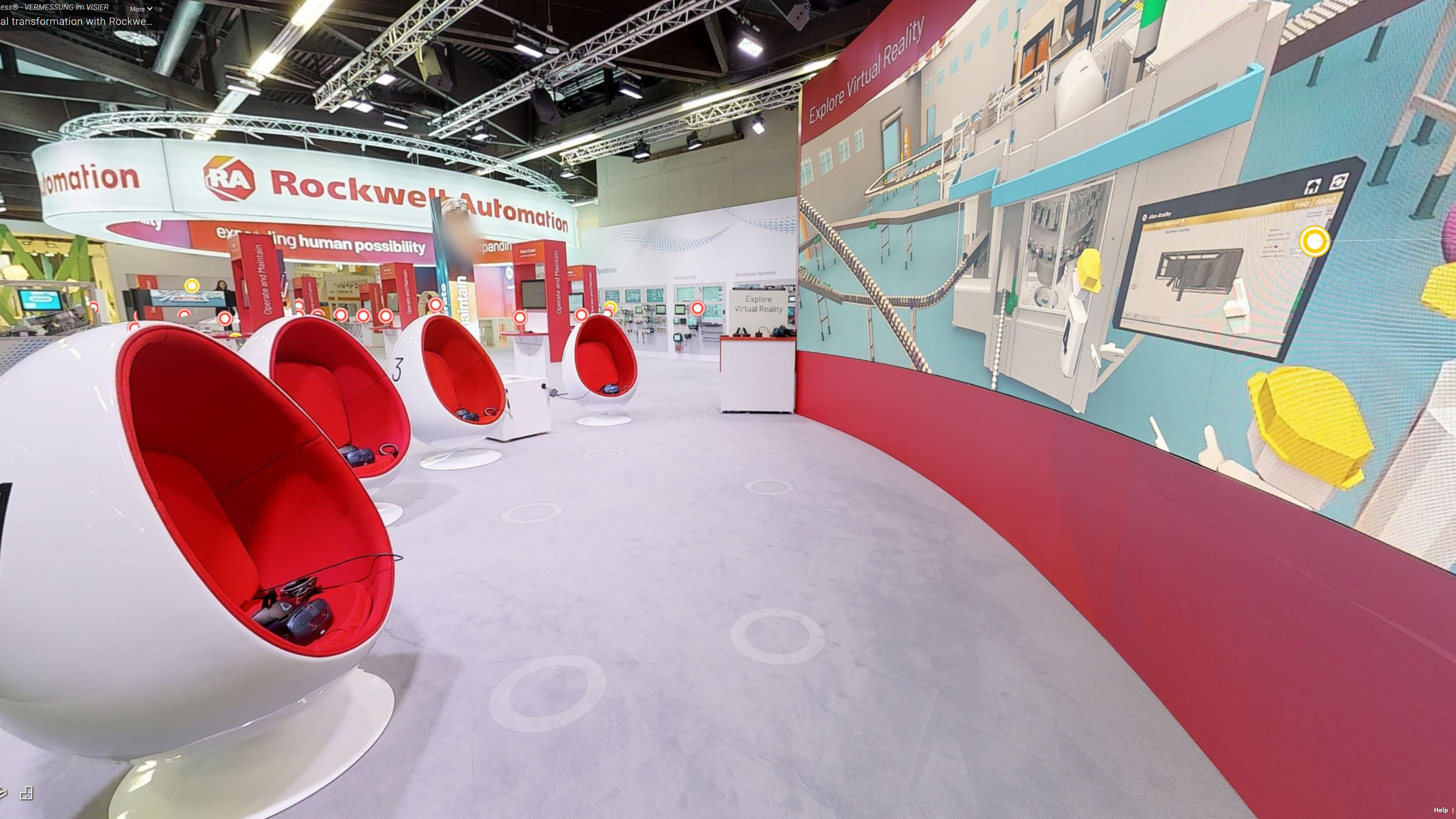 Take a 360° virtual tour of our exhibition booth