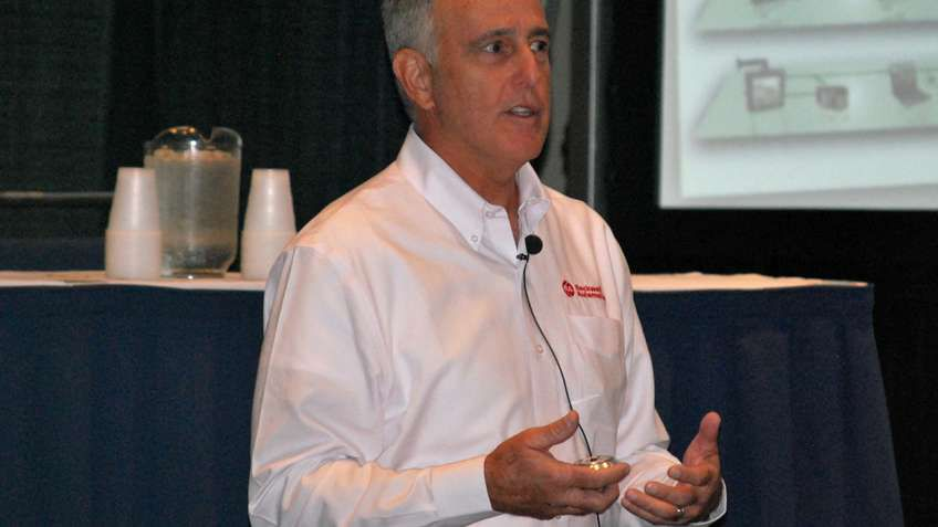 Terry Sages of Rockwell Automation explained to water and wastewater industry forum attendees why the City of Fort Myers, Florida, went with the company's control systems and motor control centers for a recent wastewater system upgrade.