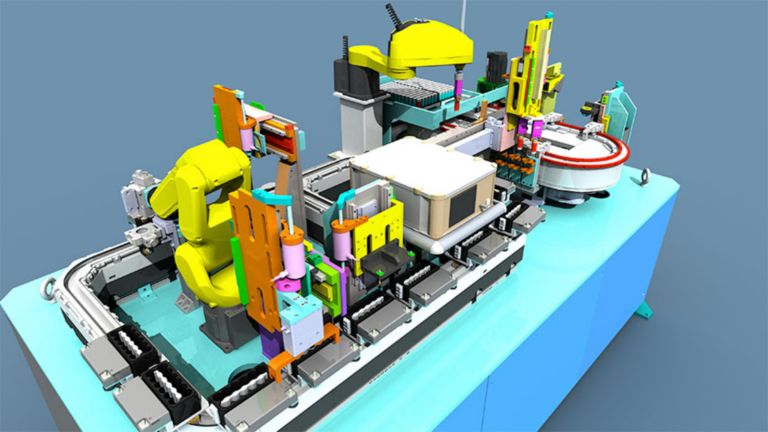 Modello 3D che mostra come il software Emulate3D possa assistervi nel ciclo di vita di una macchina