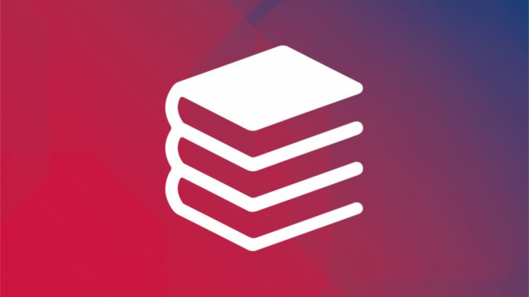 icon of stack of three books
