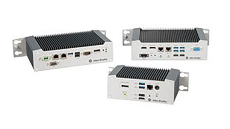 threedifferent size thin client PCs